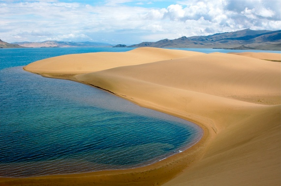 Who says Mongolia doesn't have white sandy beaches?